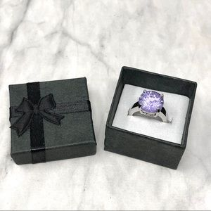 NEW RS Covenant Jewelry Amethyst Faceted Ring 5
